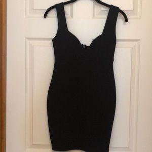 Sexy black mini dress